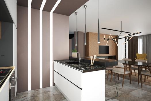 Кухня-гостиная. Квартира в Якутске