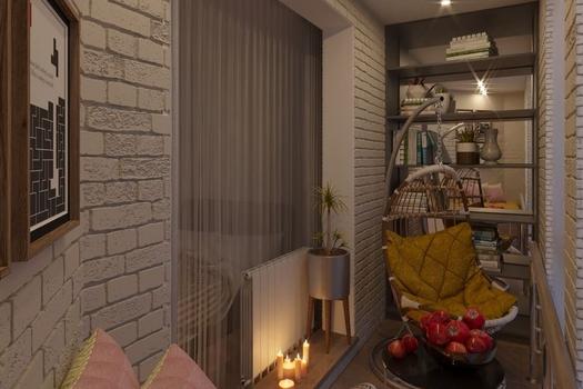 Балкон в комнате. ЖК Заельцовский