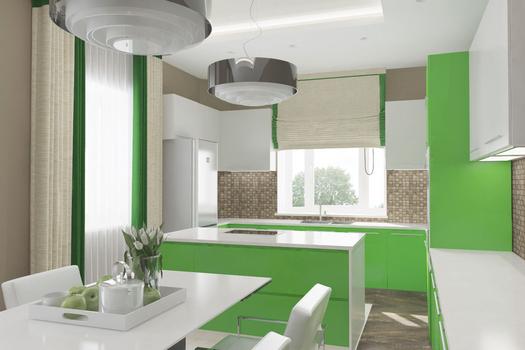 Кухня. Коттедж в Боровом