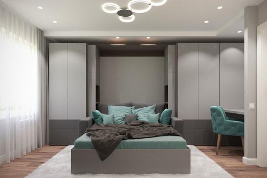 Интерьер спальни на Павлова