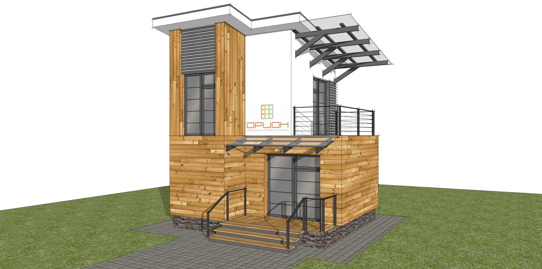 Эскиз экстерьера офиса для производственно-строительной компании Орион24.