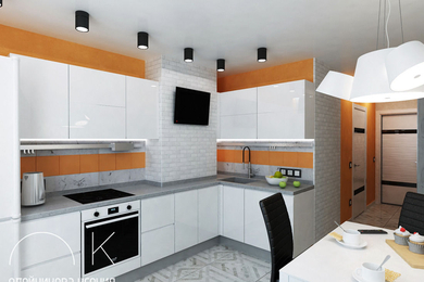 Дизайн-проект 1-комнатной квартиры, 35 м.кв.