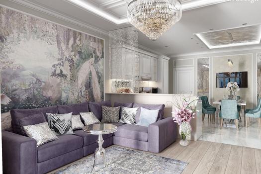 Дизайн квартиры в ЖК 'SkySEVEN'