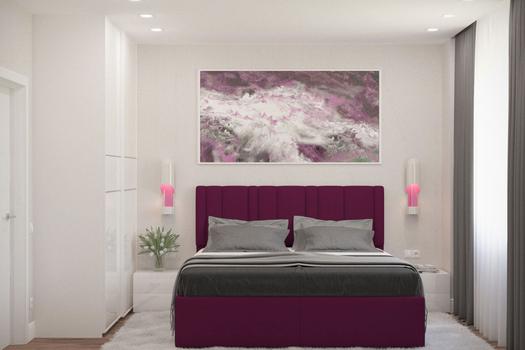 Интерьер спальни на Ярыгинской набережной