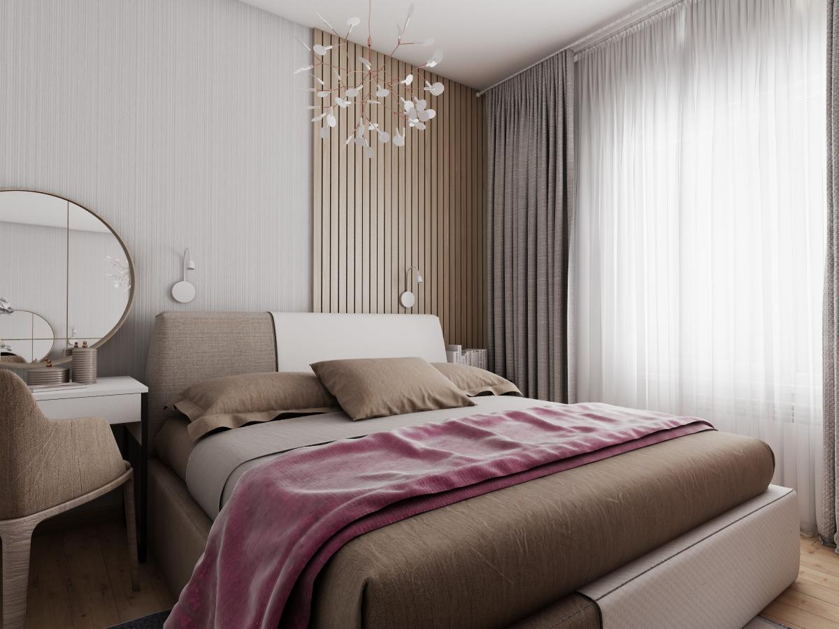 Современный интерьер квартиры общей площадью 40 кв.м. г.Иркутск
