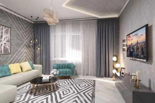 Жилой интерьер в двухкомнатной квартире