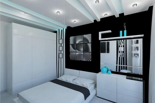 Черно-белая квартира на ул.Алексеева