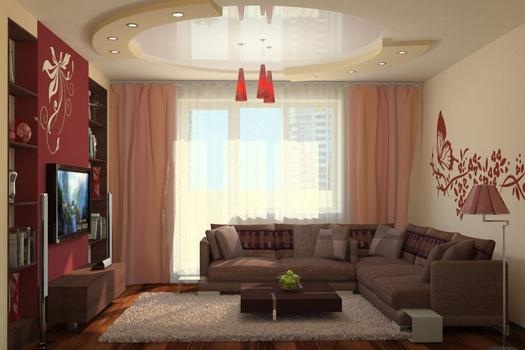 Гостиная в квартире по ул. Железнодорожная