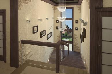 Лестничный холл в загородном доме, по ул. Бронный переулок
