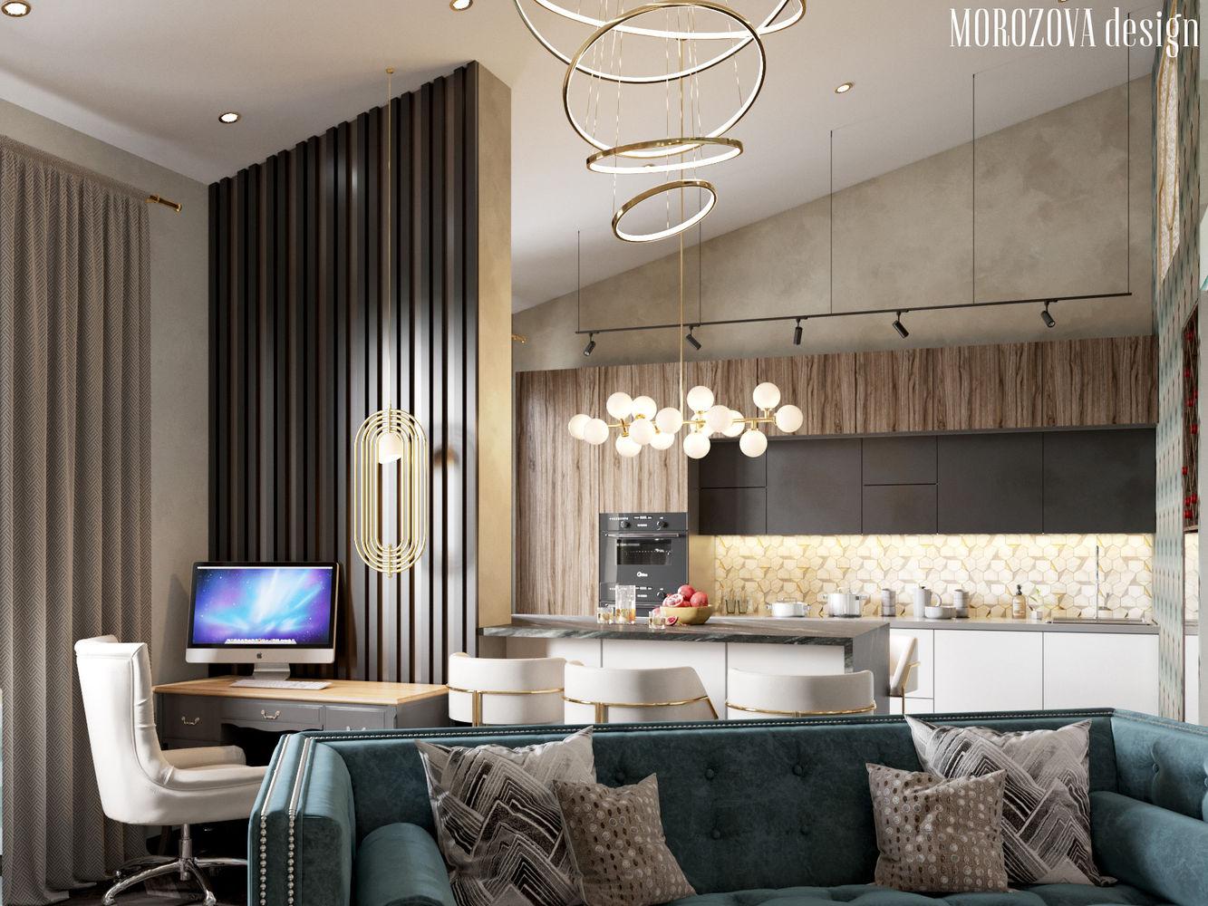 Дизайн квартиры с антресольным этажом в г. Москва