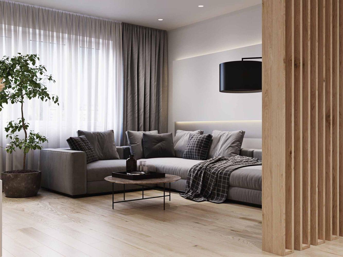 Дизайн интерьера квартиры 98 м2
