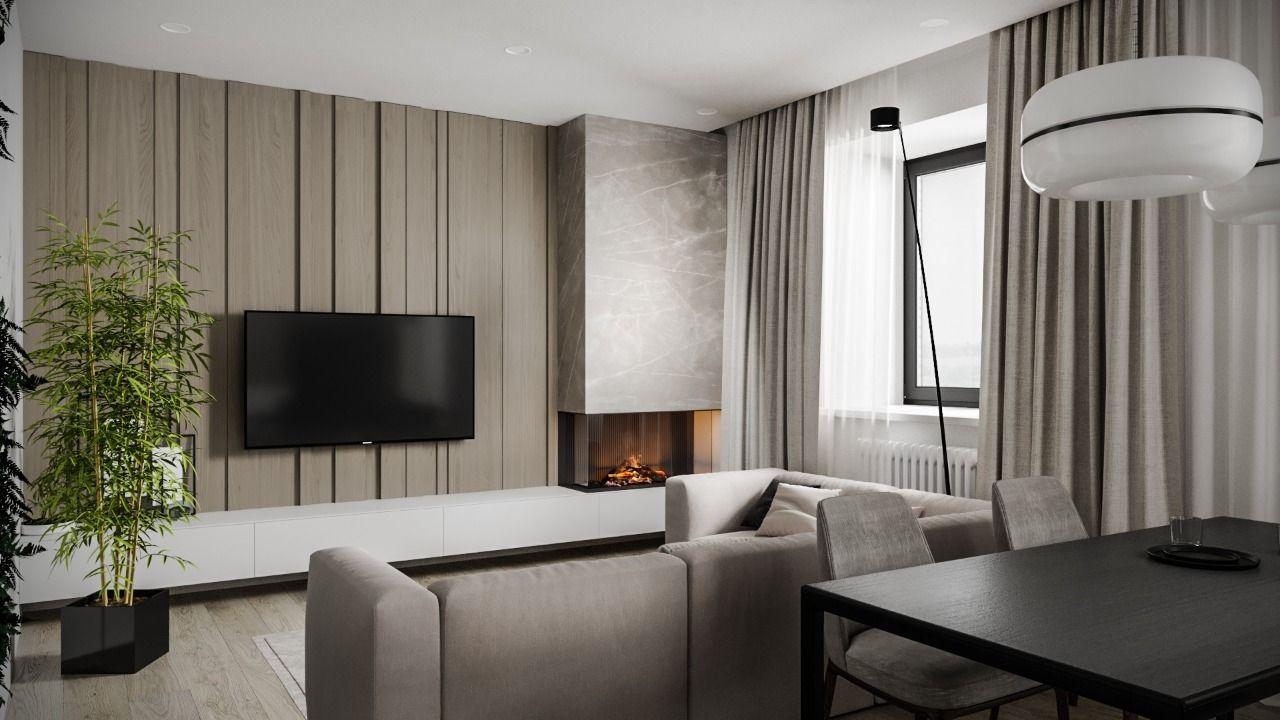 Дизайн интерьера квартиры 69 м2 Водопьянова 24