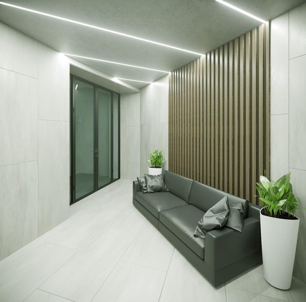 Офис лофт минимализм