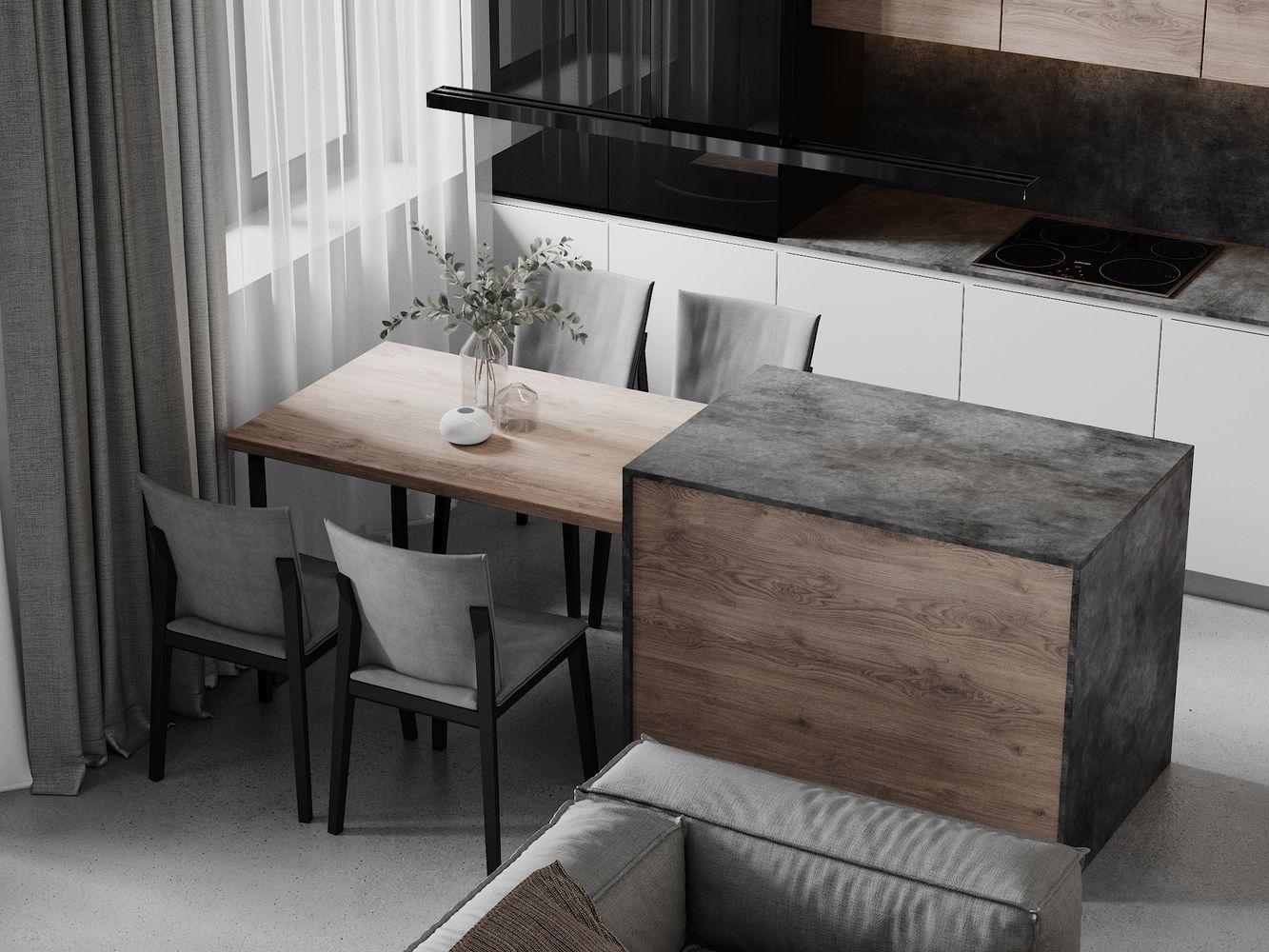 Дизайн интерьера 3-х квартиры ул.Живописная