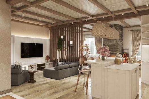Жилой дом в кантри стиле