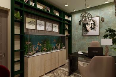 Комната релаксации, она же является кабинетом, где принимаются простые и сложные решения.