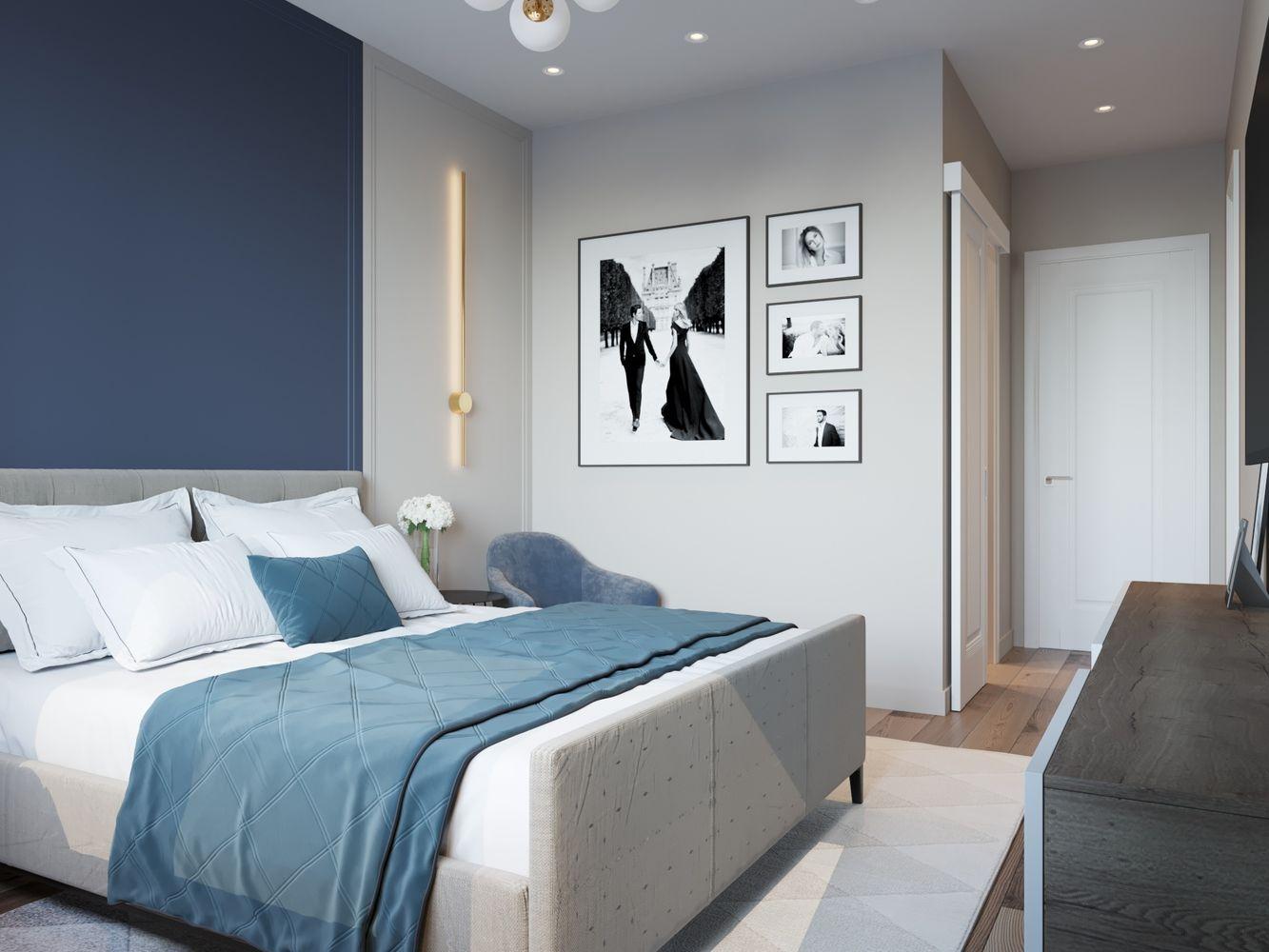 Двухкомнатная квартира для молодой пары. Современный интерьер и удачная планировка для комфортной жизни и посиделок с друзьями.
