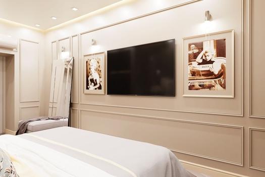 Спальня в  2-х комнатной квартире ЖК  'SKY SEVEN'