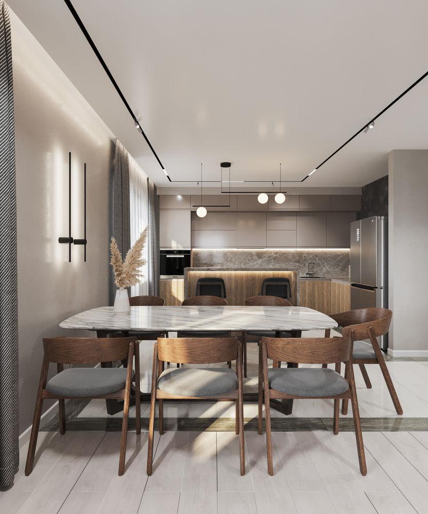 Кухня-гостиная и спальня