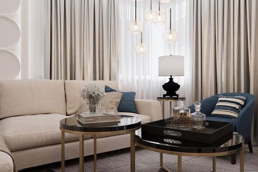2 варианта дизайна гостиной площадью 20м.кв в 2-х комнатной квартире.