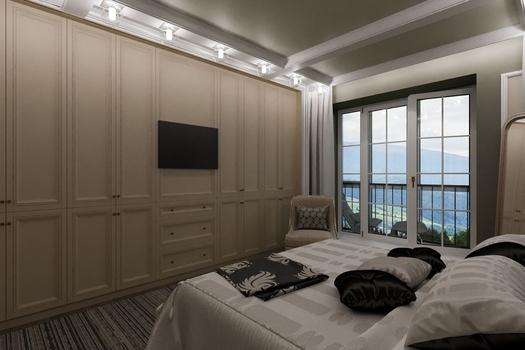 Спальня с видом  на Саяны