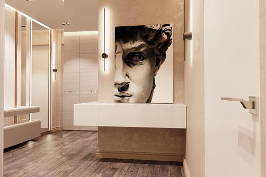 Квартира 3-х комнатная в стиле 'Минимализм'