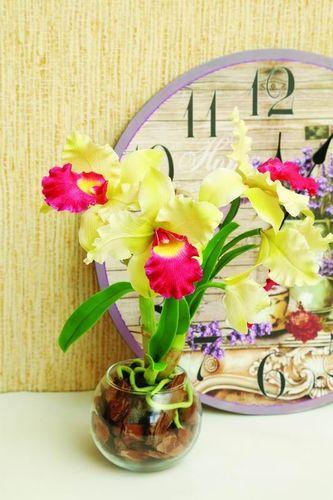Орхидея из полимерной глины