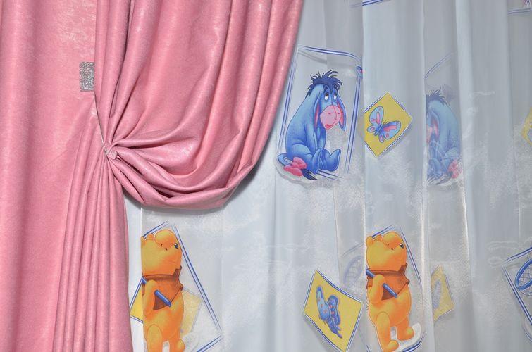 Мультяшные шторы для детской комнаты