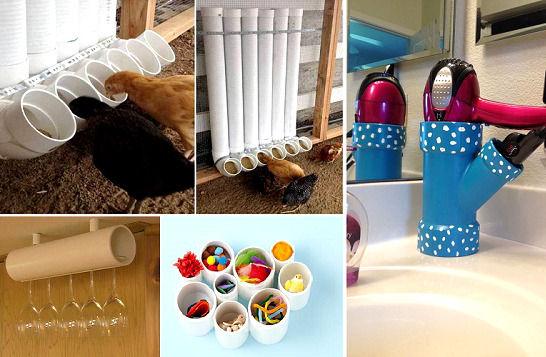 14 способов использовать остатки пластиковых труб