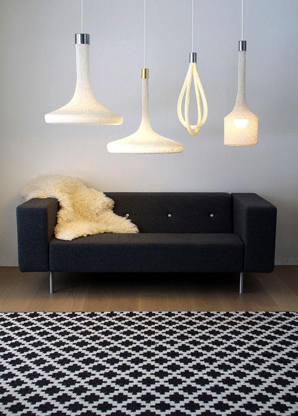 вязанная лампа