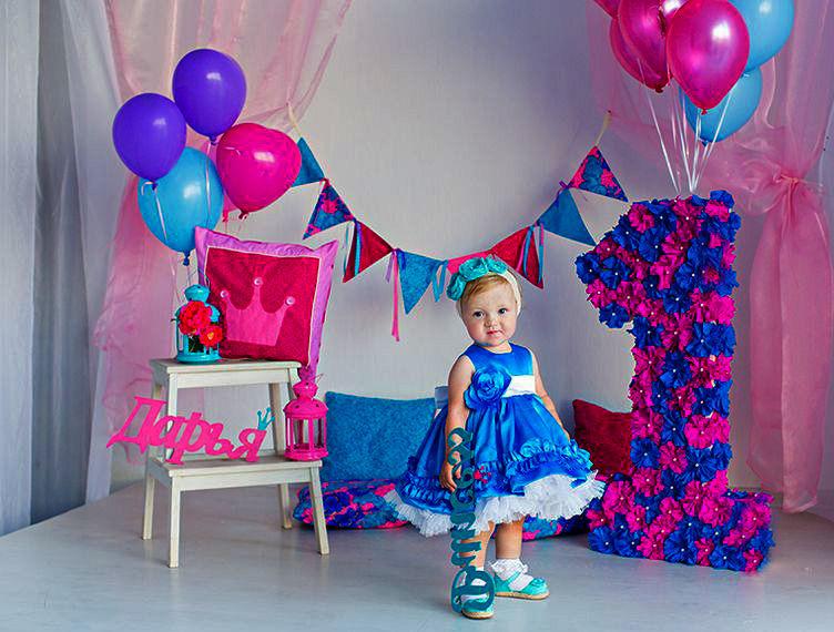 Оформление комнаты на первый день рождения ребенка, 1 год