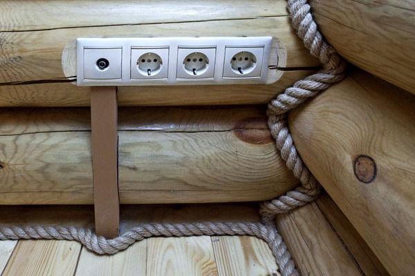 Как прокладывать проводку в бане?