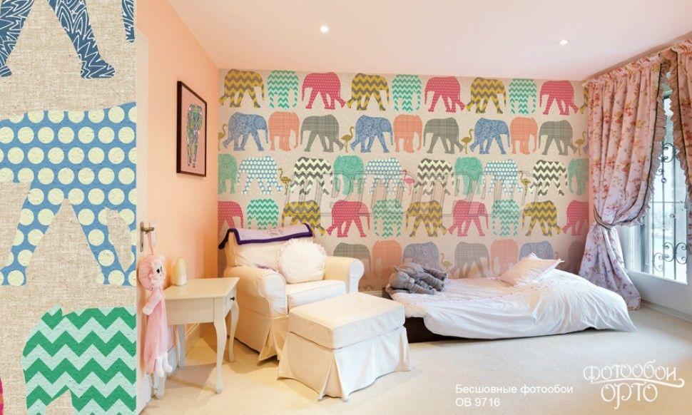 Подчеркивание стиля интерьера фотообоями на стене
