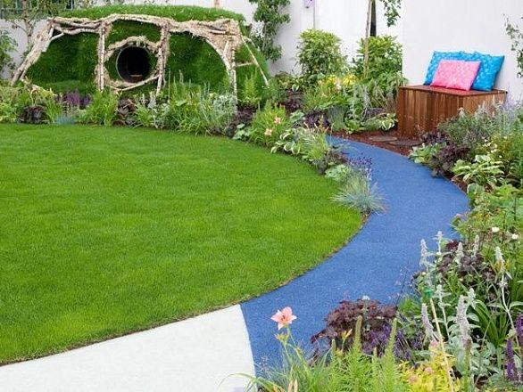Применение резиновой крошки при обустройстве садовых дорожек