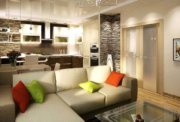 Недорогой интерьер трехкомнатной квартиры