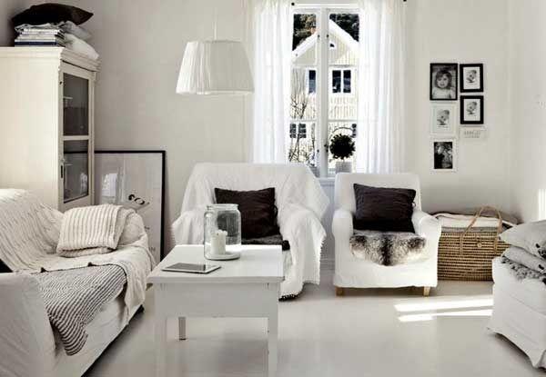 белый цвет интерьера