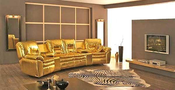 золотой диван