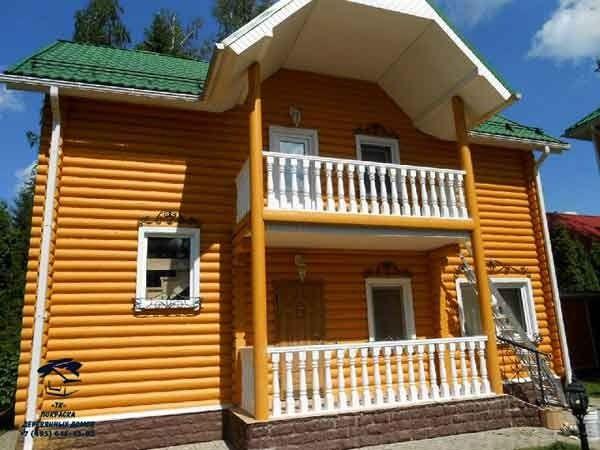 Декоративная покраска деревянного дома под ключ