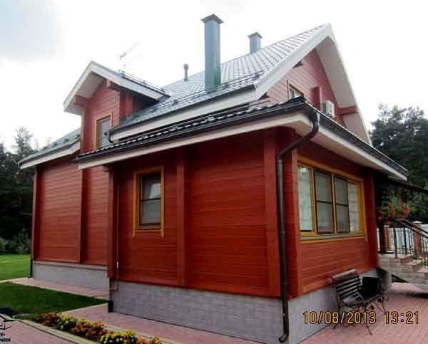 покраска дома из дерева