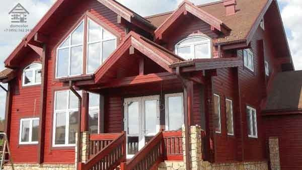 выбор краски для деревянного дома