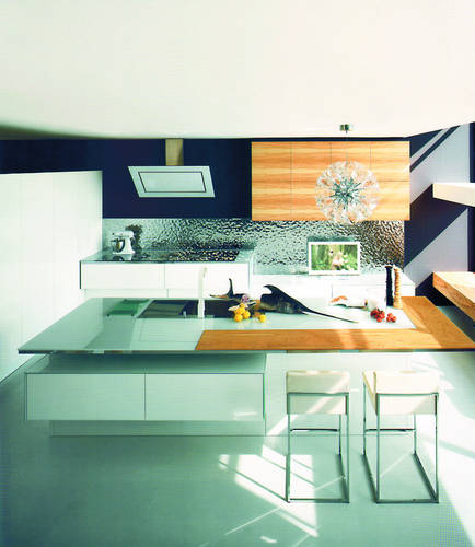 Кухни в стиле модерн, классика, хай-тек. Планировка, отделка, мебель