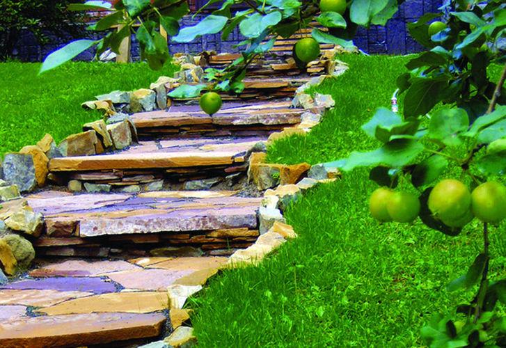 Способы мощения садовых дорожек
