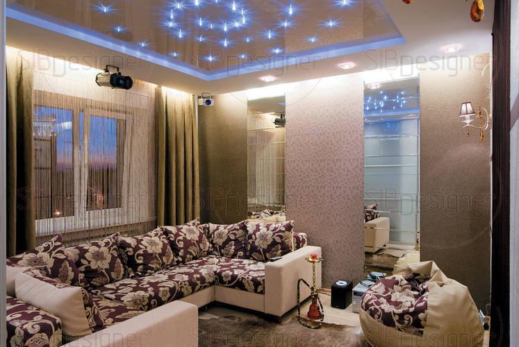 Стильный интерьер двухуровневой квартиры для молодого человека