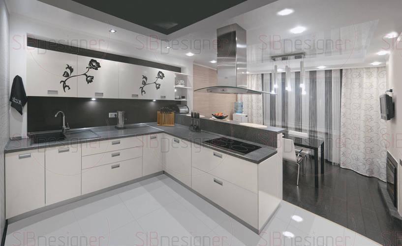 Современный интерьер квартиры с элементами восточного стиля