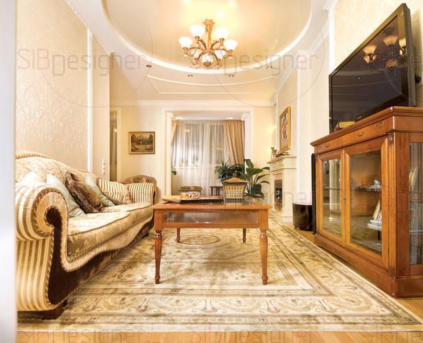 Аристократически красивый интерьер квартиры