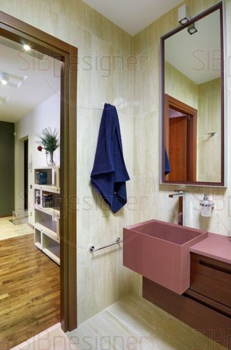 аскетичная ванная комната