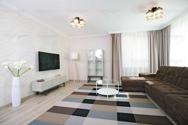 Словно нить, одно помещение с другим связывает система потолочного карниза. Этот декор присутствует в каждой комнате.