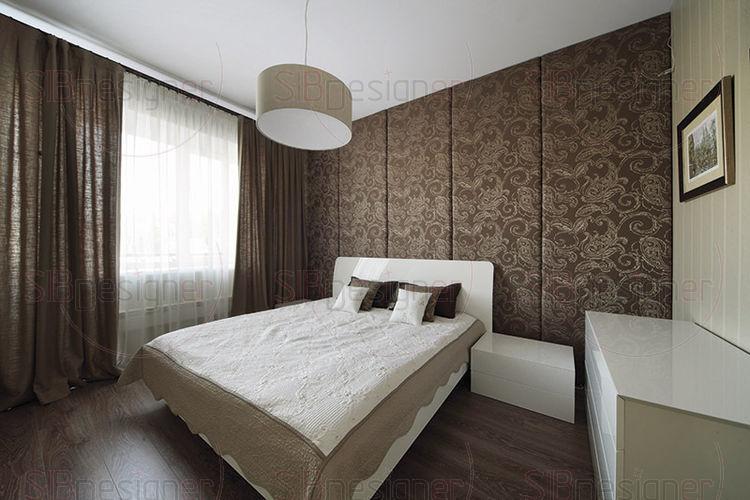 Шоколадные шторы в спальню фото