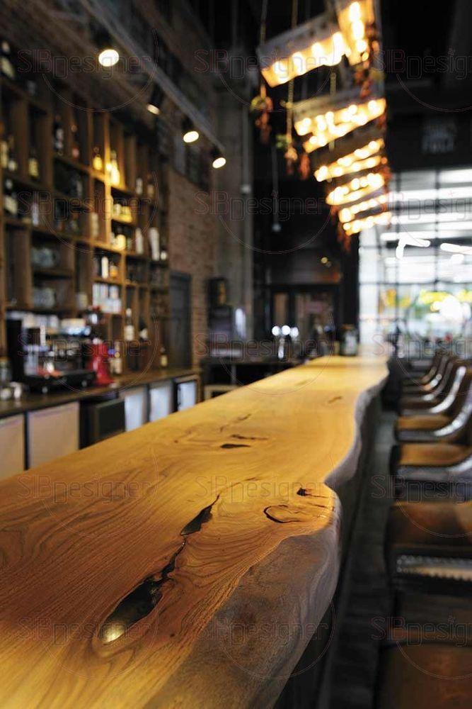 Столешница которой выполнена из деревянного слэба