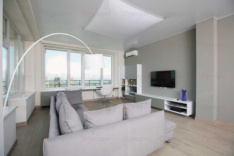 Мебель для ТВ-зоны выполняли по индивидуальному эскизу.